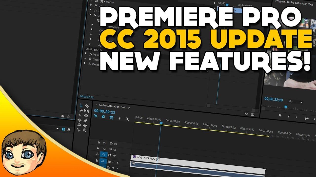Premiere Pro CC 2015 Brings New Features
