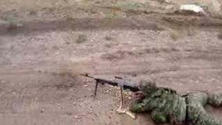 FN MAG machine gun range convoy