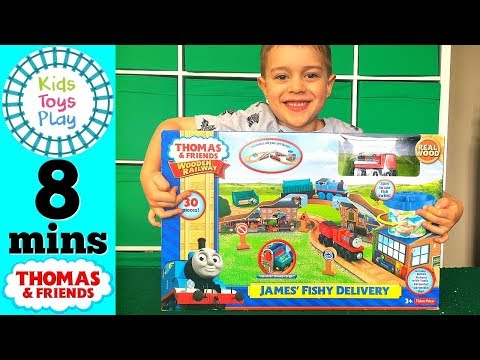 James' Fishy Delivery Unboxing and Review | Thomas and Friends Playing with Toy Trains for Kids