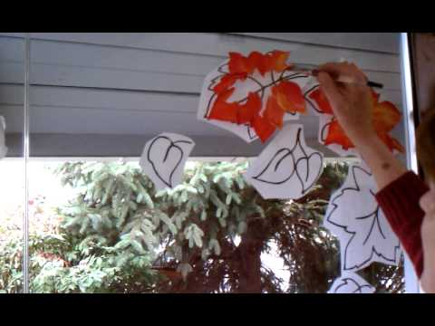 Holiday Window Painting Easy Shading Tutorial - YouTube