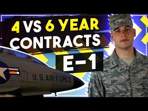 4 vs 6 year contracts - Joining as E-1