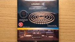 Inside Lidl's Livarno solar light strip.