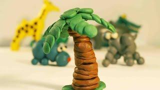Поделки из пластилина. Видео мастер-класс - Пальма из пластилина.
