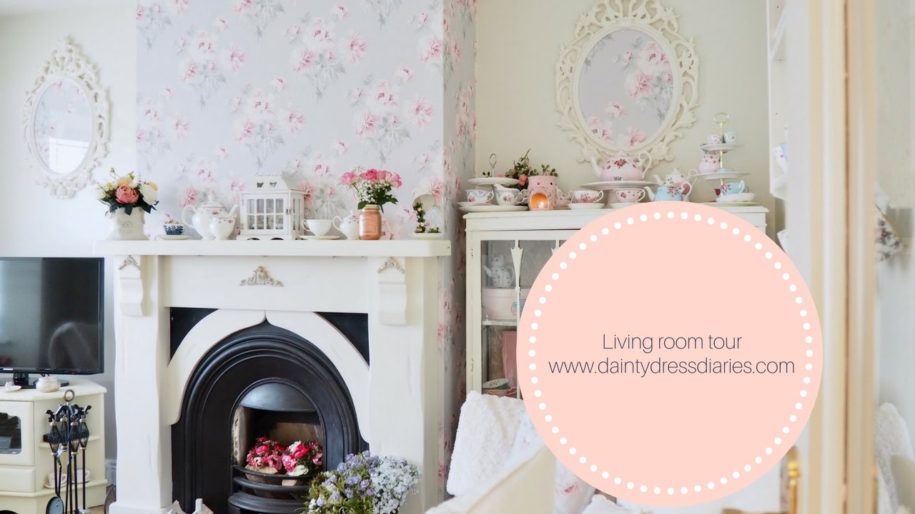 Living room tour, shabby chic and cottage style. - YouTube