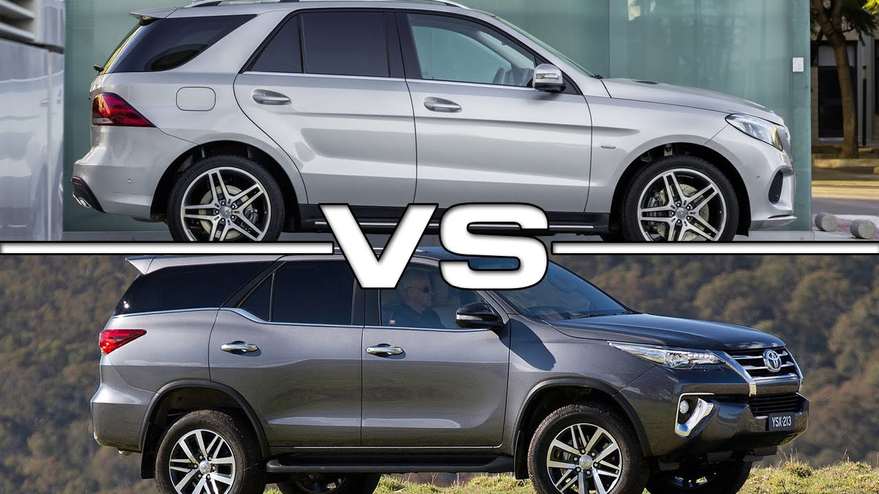 2016 Mercedes Benz Gle Vs 2016 Toyota Fortuner Youtube