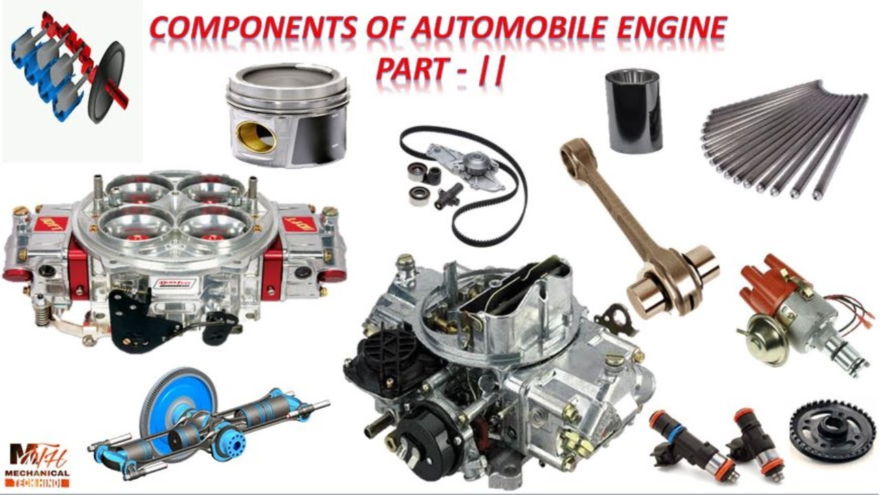 Components of Automobile Engine in HINDI - Part 2 - YouTube