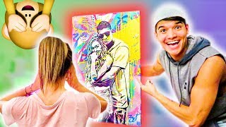 Reacting To SURPRISE Painting! (REVEAL)