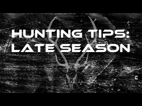 Hunting Tips: Late Season