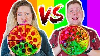 Пицца по цветам РАДУГИ Соленая против Сладкой