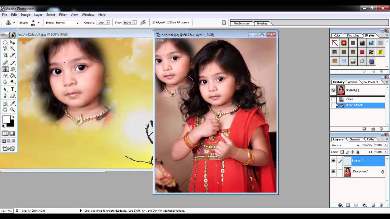 Adobe photoshop 70 tutorials video in hindi part 8 of 24 use of adobe photoshop 70 tutorials video in hindi part 8 of 24 use of clone tool history brush tool baditri Gallery