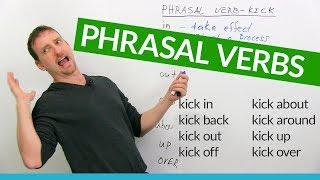 """Learn 8 KICK Phrasal Verbs in English: """"kick back"""", """"kick out"""", """"kick up""""..."""