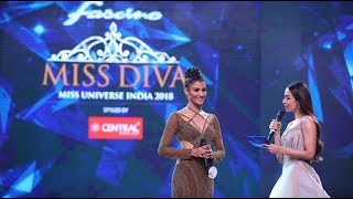 Miss Diva 2018 Top 10 and Top 5 question and answer round Miss Universe India 2018