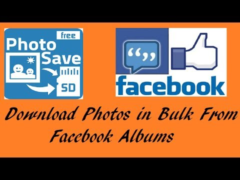 Download Photos In Bulk From Facebook Albums In Just One Touch.