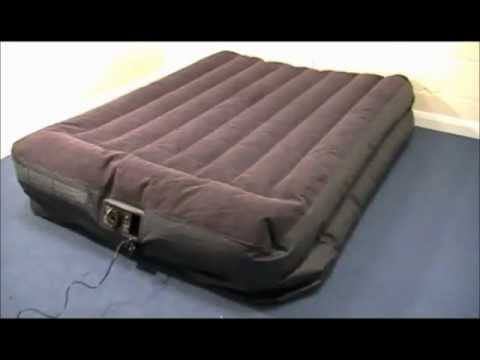 intex queen sized raised airbed with pillow rest u0026 builtin pump