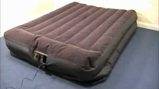 Intex Queen Sized Raised Airbed with Pillow Rest & Built-in Pump