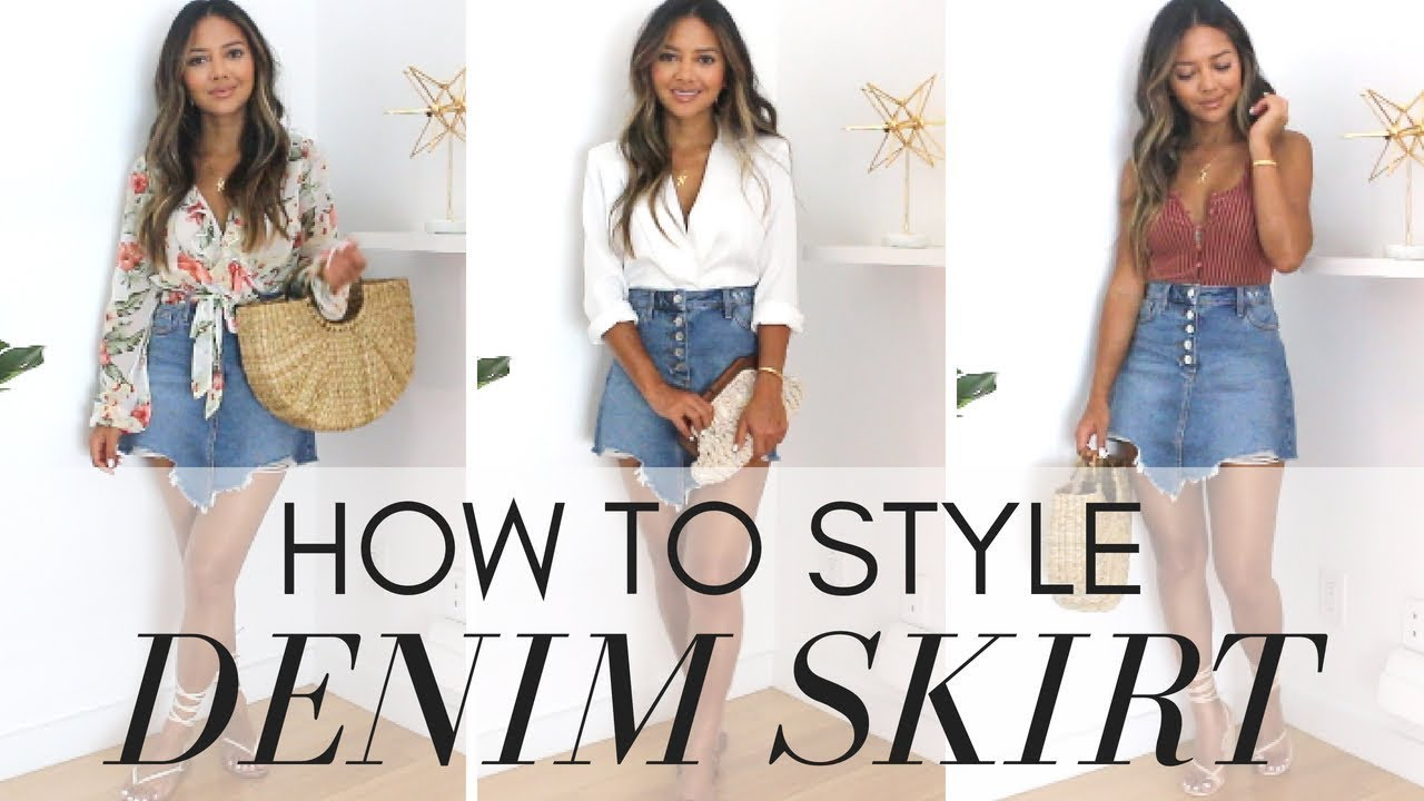 [VIDEO] - 5 Ways To Wear A DENIM SKIRT Style Like A Pro || Outfit Ideas + Look-Book 1