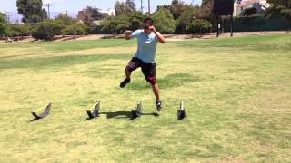 One Legged Lateral/Medial Hurdle Hops- Sweat City