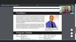 MIOSHA Training Institute (MTI) Courses