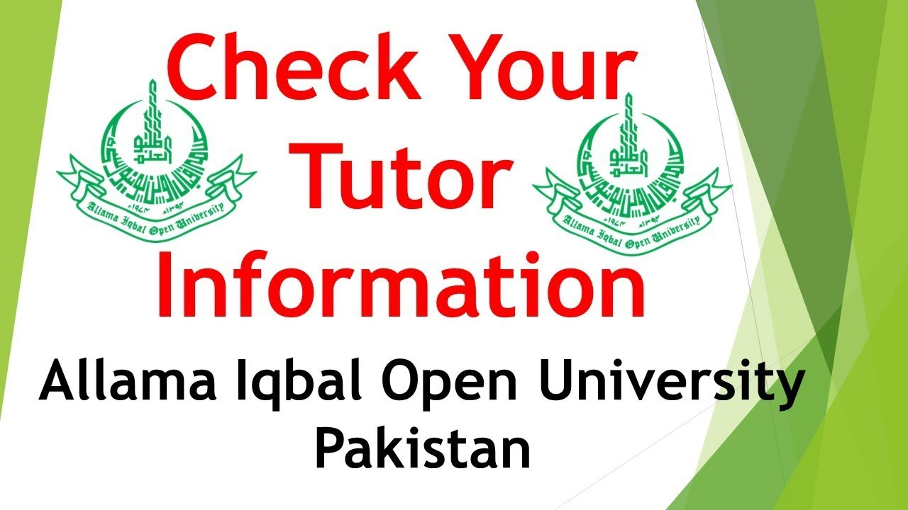 How to Check Tutor Information for Autumn 2018 - 2019 AIOU