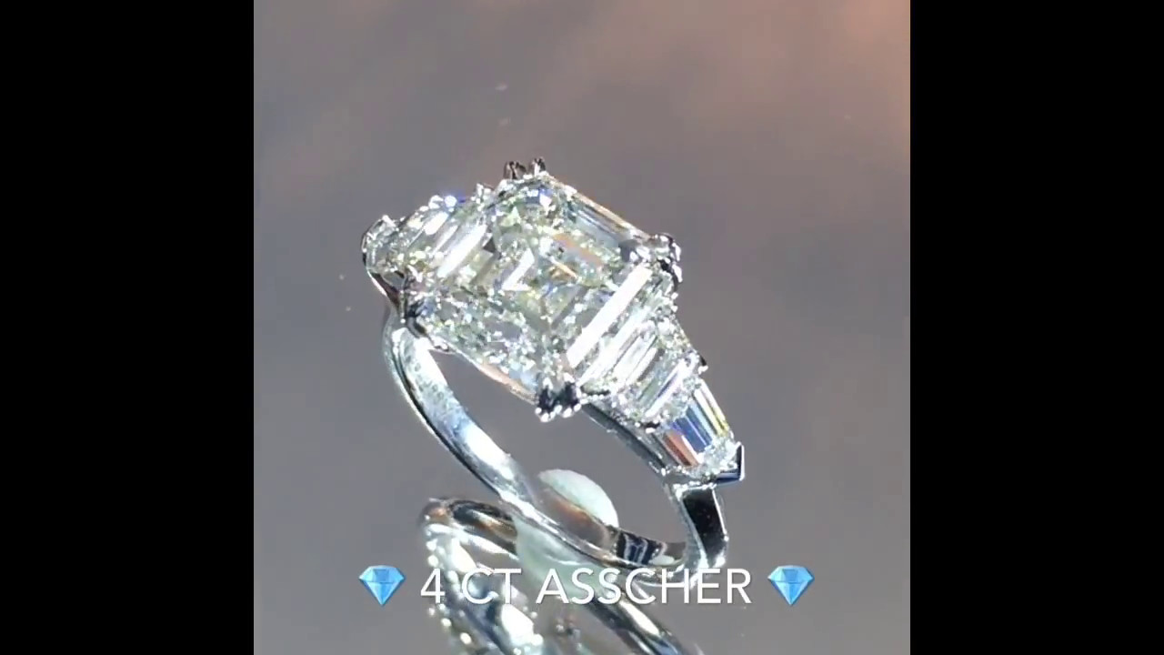 with ring content asscher side trillion yellow cut stones diamond copy
