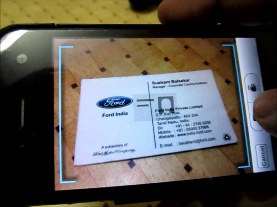 Convert Business Card Into iPhone Contacts Using Camera - YouTube
