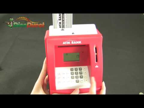 Mini ATM Bank Coin Cash Money Coin Safe Box - dinodirect