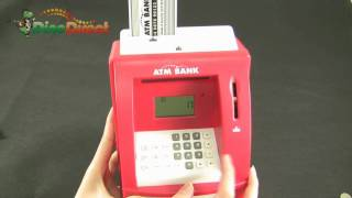 Mini ATM Bank Coin Cash Money Coin Safe Box - dinodirect