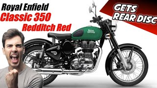 Royal Enfield Redditch Red Gets Rear Disc Break | Gift From Subscriber
