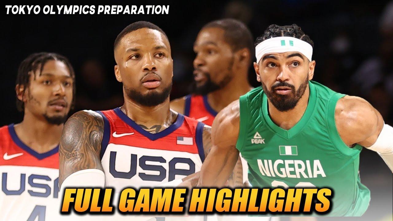 "Download USA VS NIGERIA ""FULL GAME HIGHLIGHTS""   JULY 11, 2021   TOKYO OLYMPICS PREPARATION"