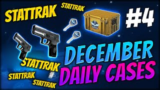 HOW TO GET LUCKY IN CS:GO ★ DECEMBER DAILY CASES DAY 4 - CS:GO CASE OPENING / UNBOXING
