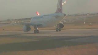 Аэропорт Ататюрк Стамбул TK 1357 очередь на взлет Boeing 737-800
