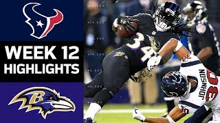 Texans vs. Ravens | NFL Week 12 Game Highlights thumbnail