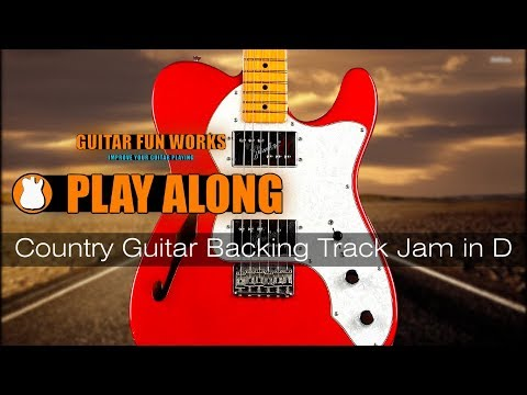 Country Guitar Backing Track Jam in D