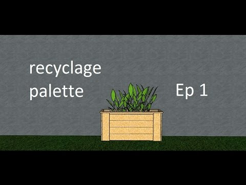 Fabrication d 39 une jardini re en palette recycler youtube - Construction banc en palette ...