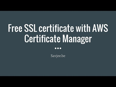 Getting A Free SSL Certificate With AWS Certificate Manager For CloudFront (AWS Howto)