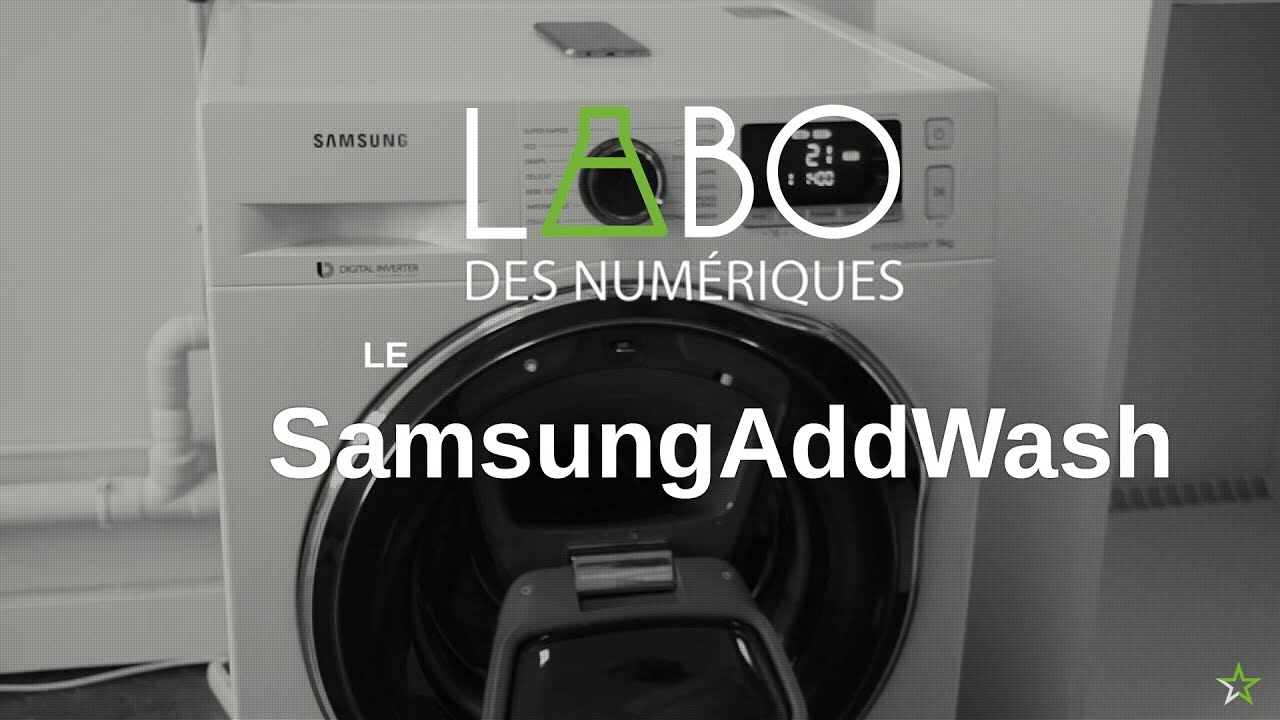 test du lave linge connect samsung addwash ww90k6414qw youtube. Black Bedroom Furniture Sets. Home Design Ideas