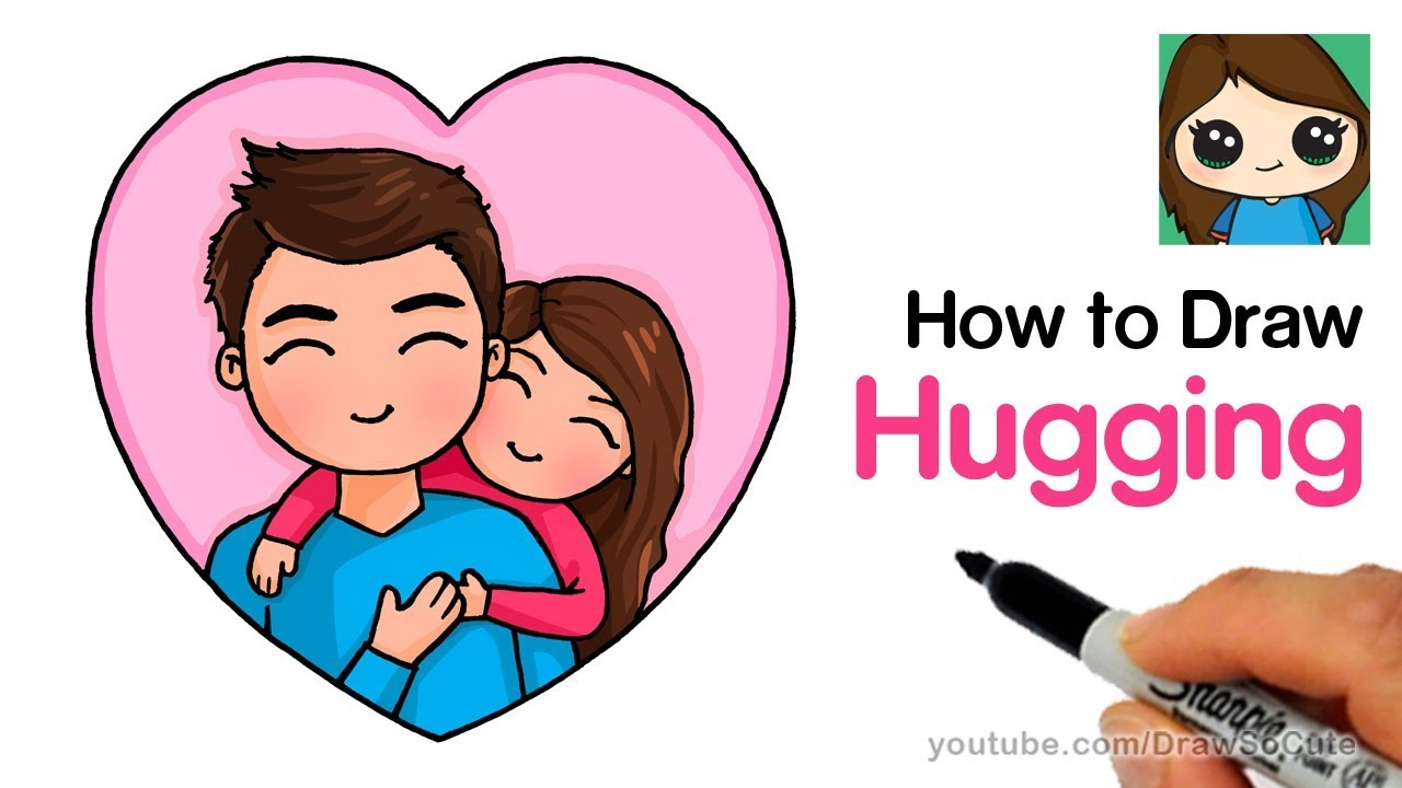 86cd5fd6 How to Draw Hugging Dad Easy - YouTube