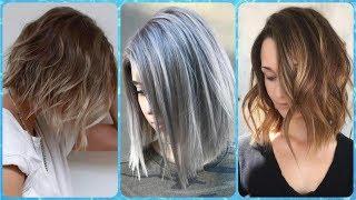 Ładne fryzura na boba dla cienkich włosów