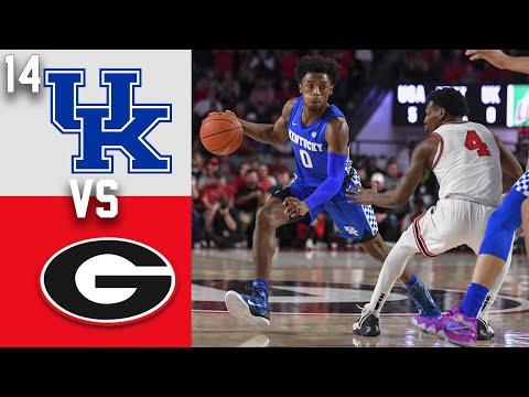 2020 College Basketball #14 Kentucky Vs Georgia Highlights