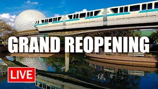 🔴 LIVE: EPCOT Grand Reopening | Walt Disney World Live Stream