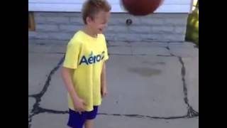Kid on Crack gets hit on head with ball Vine