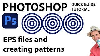 How to use EPS files to create a Photoshop pattern (CC CS6 CS5 CS4 CS3 CS2 etc) tutorial