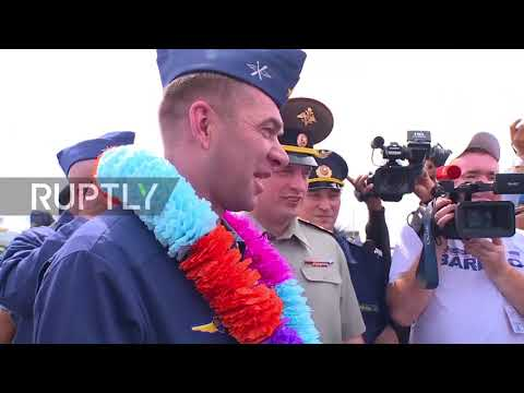 Indonesia: Russian Air Force bombers touch down in Biak