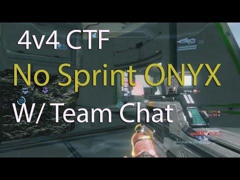 Halo 4 :: 4v4 No Sprint Onyx CTF :: W/ Team Chat