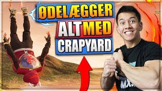 ØDELÆGGER ALT I FORTNITE MED CRAPYARD! - FORTNITE DANSK