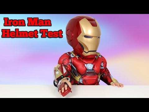 Thumbnail: Marvel Iron Man Realistic Cosplay Helmet by Hasbro Unboxing And Playing With Ckn Toys