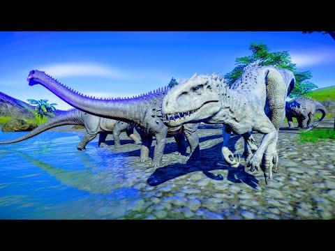Indominus Rex & Indoraptor Hunting In Wetland Environment - Jurassic World Evolution |