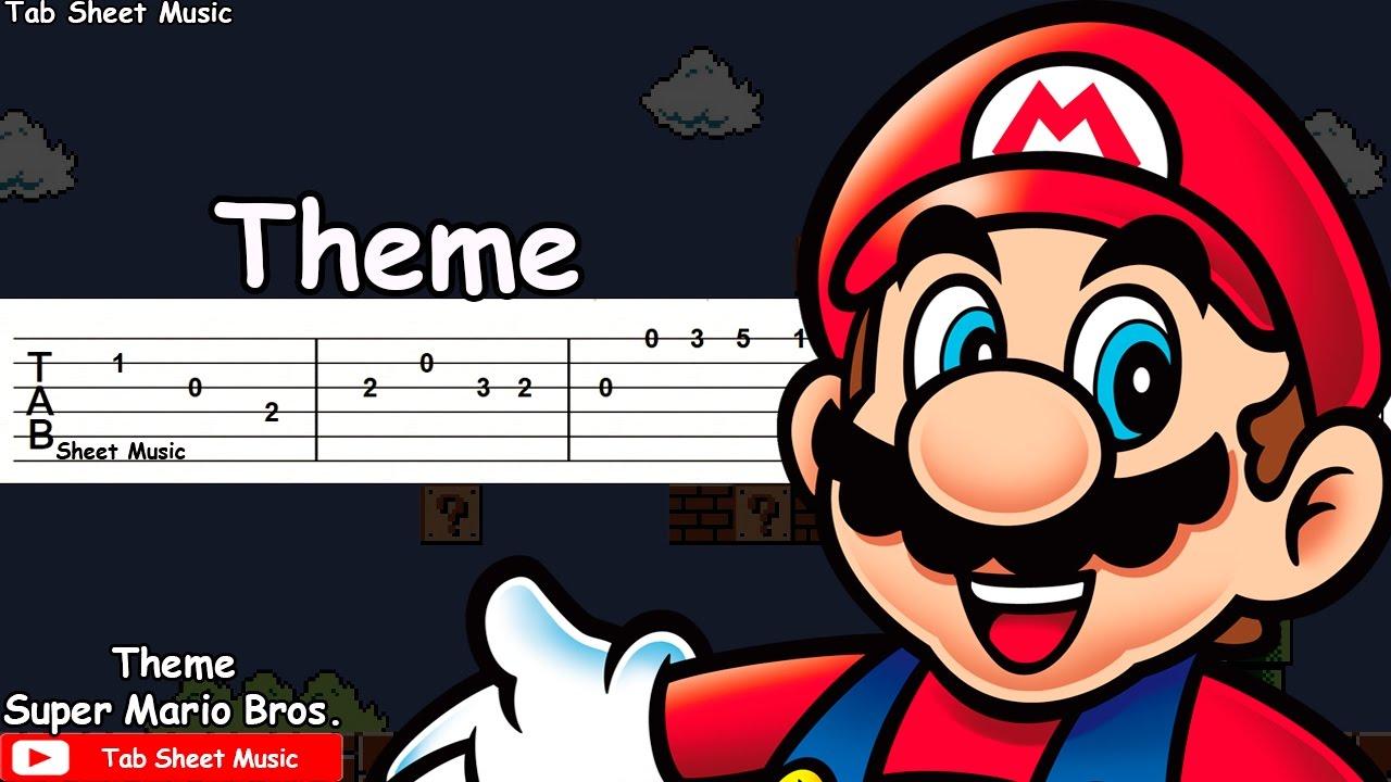 Super Mario Bros  - Theme Guitar Tutorial