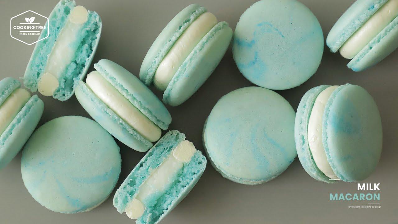 촉촉한 우유 크림이 듬뿍~ 우유 마카롱 만들기 : Milk Macaron Recipe | Cooking tree