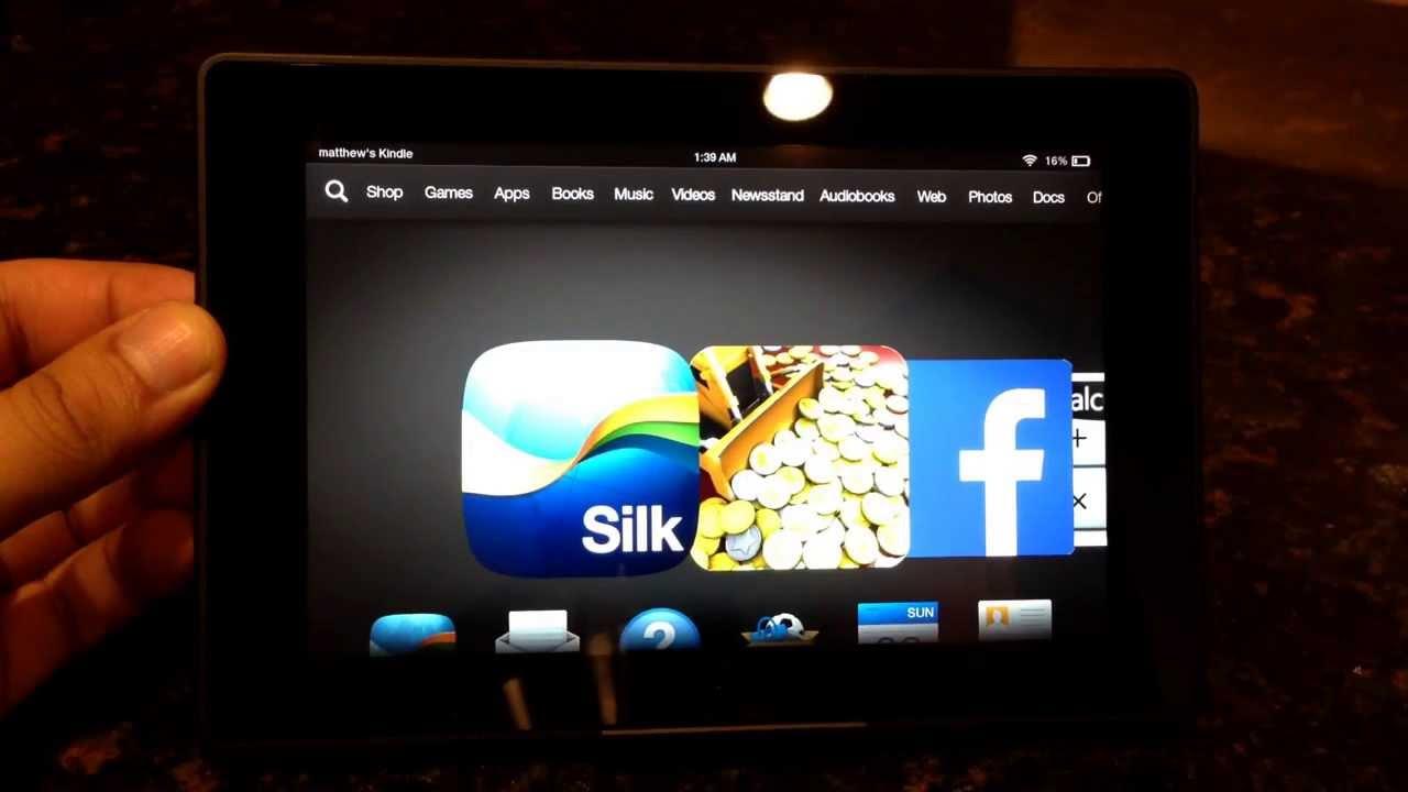 "Amazon Kindle Fire HD 7"": Shut Down/Power On"
